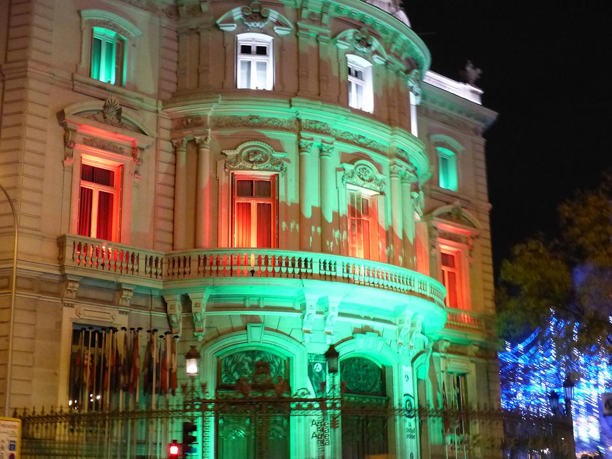 luces de navidad 2020: palacio de linares