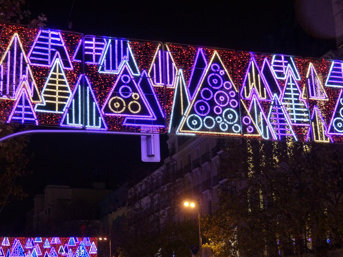 Luces de navidad 2020: calle Serrano