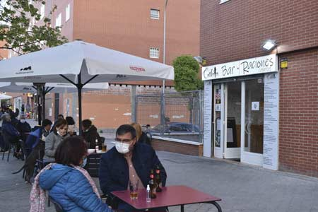 Terraza del bar Carlota